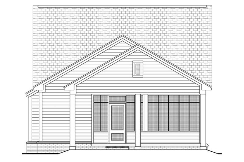Cottage Exterior - Rear Elevation Plan #430-40 - Houseplans.com