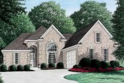 European Style House Plan - 3 Beds 2 Baths 1795 Sq/Ft Plan #34-108 Exterior - Front Elevation