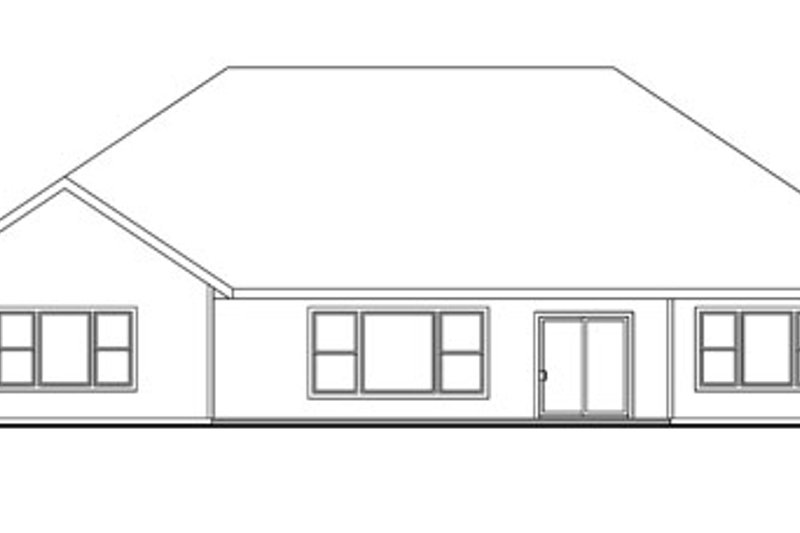 Traditional Exterior - Rear Elevation Plan #124-774 - Houseplans.com