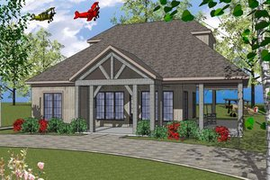 Southern Exterior - Front Elevation Plan #8-298