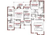 Traditional Style House Plan - 4 Beds 2.5 Baths 2360 Sq/Ft Plan #63-202 Floor Plan - Main Floor Plan