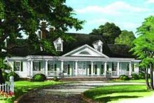 Southern Exterior - Front Elevation Plan #137-236