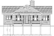 Contemporary Style House Plan - 3 Beds 2.5 Baths 2144 Sq/Ft Plan #138-224 Exterior - Rear Elevation