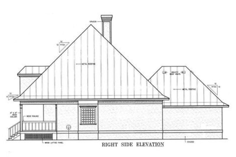 Country Exterior - Other Elevation Plan #45-132 - Houseplans.com