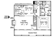 Country Style House Plan - 3 Beds 2.5 Baths 1491 Sq/Ft Plan #927-36 Floor Plan - Main Floor Plan