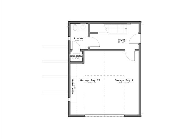 Craftsman Floor Plan - Lower Floor Plan #926-1