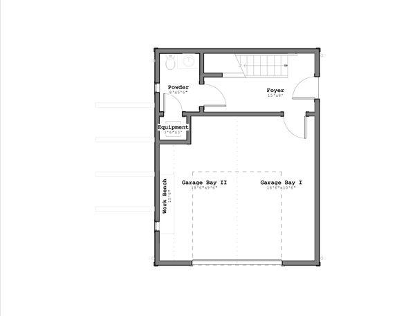 Craftsman Floor Plan - Lower Floor Plan #926-1