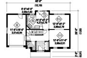 Colonial Style House Plan - 3 Beds 1 Baths 1300 Sq/Ft Plan #25-4785 Floor Plan - Main Floor Plan