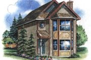 Victorian Style House Plan - 3 Beds 3 Baths 1122 Sq/Ft Plan #18-2002