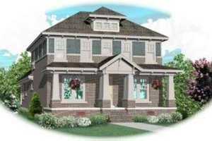 Colonial Exterior - Front Elevation Plan #81-434