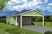 Country Exterior - Front Elevation Plan #932-304