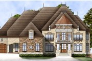 European Style House Plan - 5 Beds 5 Baths 5701 Sq/Ft Plan #119-197 Exterior - Front Elevation