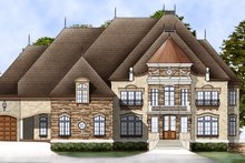House Plan Design - European Exterior - Front Elevation Plan #119-197