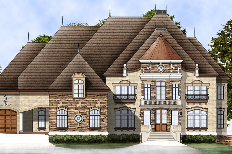 Dream House Plan - European Exterior - Front Elevation Plan #119-197