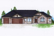 Traditional Style House Plan - 3 Beds 3.5 Baths 2162 Sq/Ft Plan #5-253 Exterior - Front Elevation