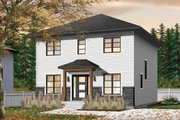 Traditional Style House Plan - 4 Beds 1.5 Baths 1680 Sq/Ft Plan #23-2703 Exterior - Front Elevation