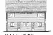 Traditional Style House Plan - 3 Beds 3 Baths 2214 Sq/Ft Plan #18-2003 Exterior - Rear Elevation