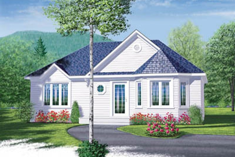 Cottage Exterior - Front Elevation Plan #23-1027