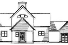 Home Plan - Traditional Exterior - Rear Elevation Plan #17-2276