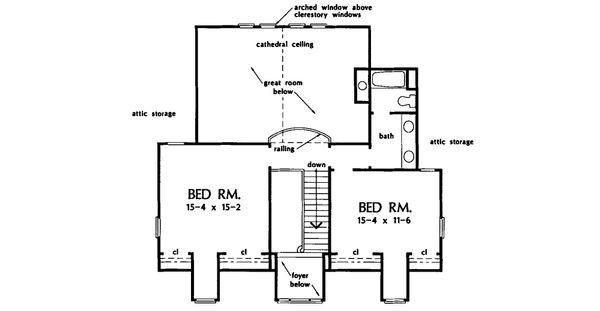 Country Floor Plan - Upper Floor Plan Plan #929-22
