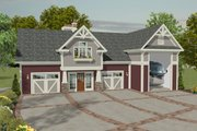 Craftsman Style House Plan - 1 Beds 2.5 Baths 1058 Sq/Ft Plan #56-626 Exterior - Front Elevation