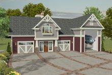Home Plan Design - Craftsman, Front Elevation, RV Garage
