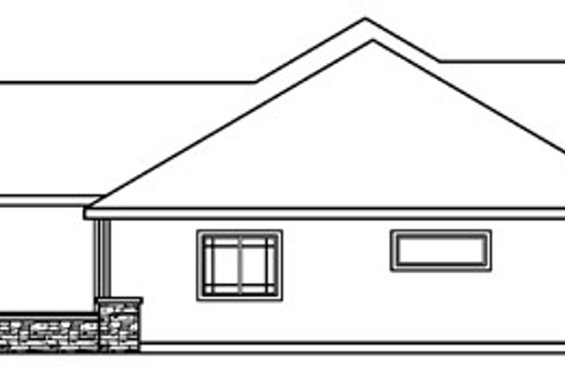 Ranch Exterior - Other Elevation Plan #124-396 - Houseplans.com