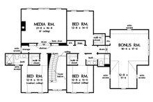 Farmhouse Floor Plan - Upper Floor Plan Plan #929-1113