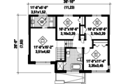 Contemporary Style House Plan - 3 Beds 1 Baths 1516 Sq/Ft Plan #25-4436 Floor Plan - Upper Floor Plan