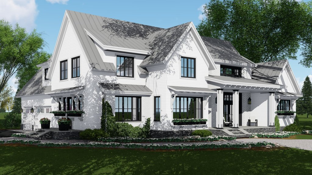 Farmhouse Style House Plan 4 Beds 4 5 Baths 2886 Sq Ft