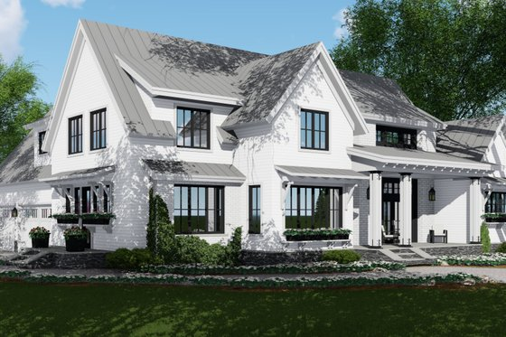 Farmhouse Exterior - Front Elevation Plan #51-1132