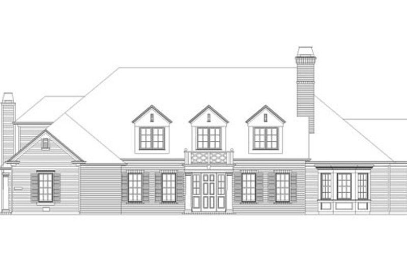 Traditional Style House Plan - 5 Beds 4.5 Baths 5163 Sq/Ft Plan #490-2 Exterior - Front Elevation