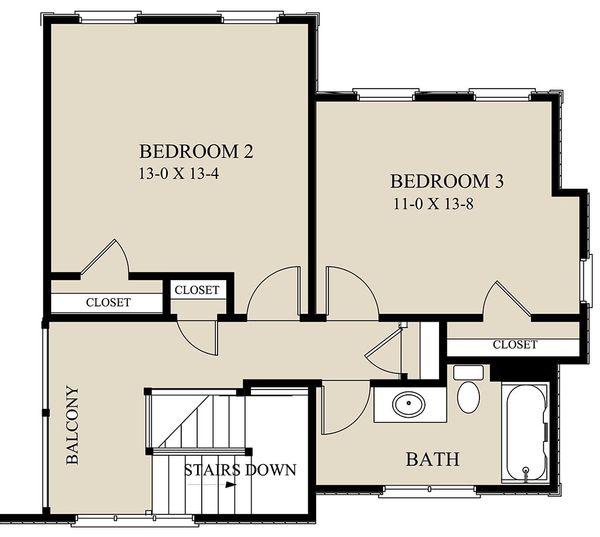 Cottage Floor Plan - Upper Floor Plan Plan #921-2