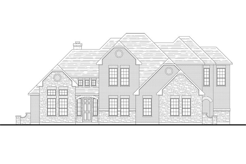 Traditional Style House Plan - 5 Beds 3 Baths 3634 Sq/Ft Plan #80-210 Exterior - Front Elevation