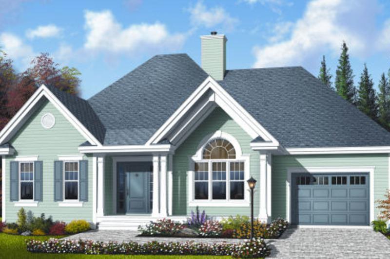 Cottage Exterior - Front Elevation Plan #23-2209
