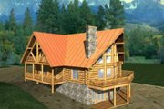 Log Style House Plan - 6 Beds 3 Baths 3725 Sq/Ft Plan #117-396 Exterior - Front Elevation
