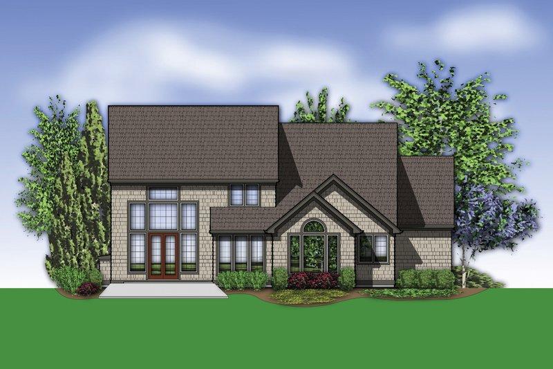 Craftsman Exterior - Rear Elevation Plan #48-632 - Houseplans.com