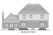 European Style House Plan - 4 Beds 2.5 Baths 2679 Sq/Ft Plan #138-338 Exterior - Rear Elevation