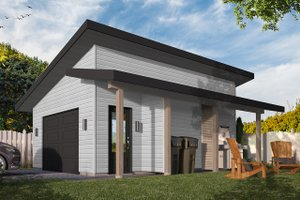 Dream House Plan - Contemporary Exterior - Front Elevation Plan #23-2668