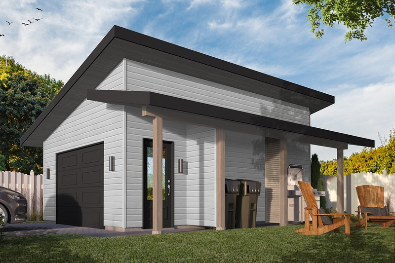 Contemporary Style House Plan - 0 Beds 0 Baths 384 Sq/Ft Plan #23-2668 Exterior - Front Elevation