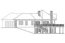 Home Plan - Ranch Exterior - Rear Elevation Plan #124-203