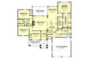 Craftsman Style House Plan - 4 Beds 2.5 Baths 2329 Sq/Ft Plan #430-152 Floor Plan - Main Floor Plan
