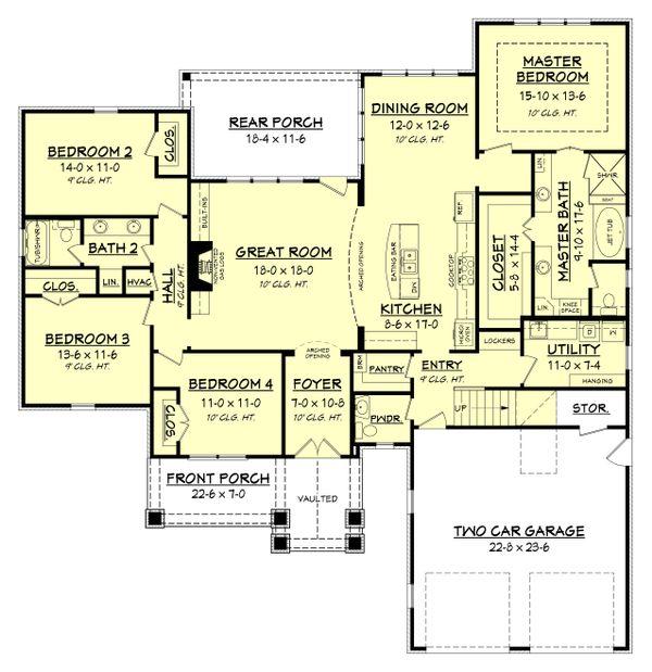 House Plan Design - Craftsman Floor Plan - Main Floor Plan #430-152