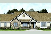 Craftsman Style House Plan - 2 Beds 2 Baths 1309 Sq/Ft Plan #58-210 Exterior - Front Elevation