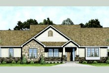 Craftsman Exterior - Front Elevation Plan #58-210
