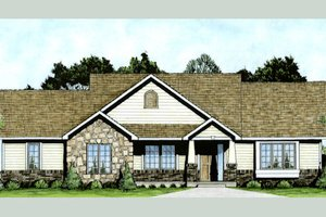 Dream House Plan - Craftsman Exterior - Front Elevation Plan #58-210