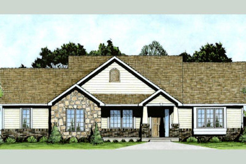 Craftsman Exterior - Front Elevation Plan #58-210 - Houseplans.com