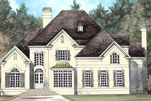 Home Plan - European Exterior - Front Elevation Plan #119-110