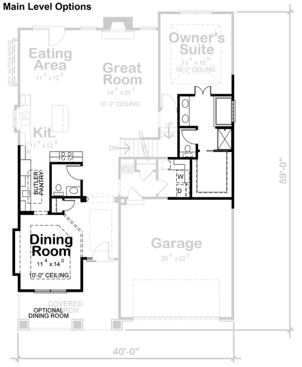 Home Plan - Cottage Floor Plan - Other Floor Plan #20-2387