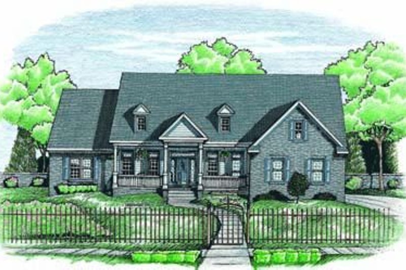 Traditional Exterior - Front Elevation Plan #20-944 - Houseplans.com
